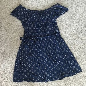 Lane Bryant Printed Knit Off Shoulder Dress